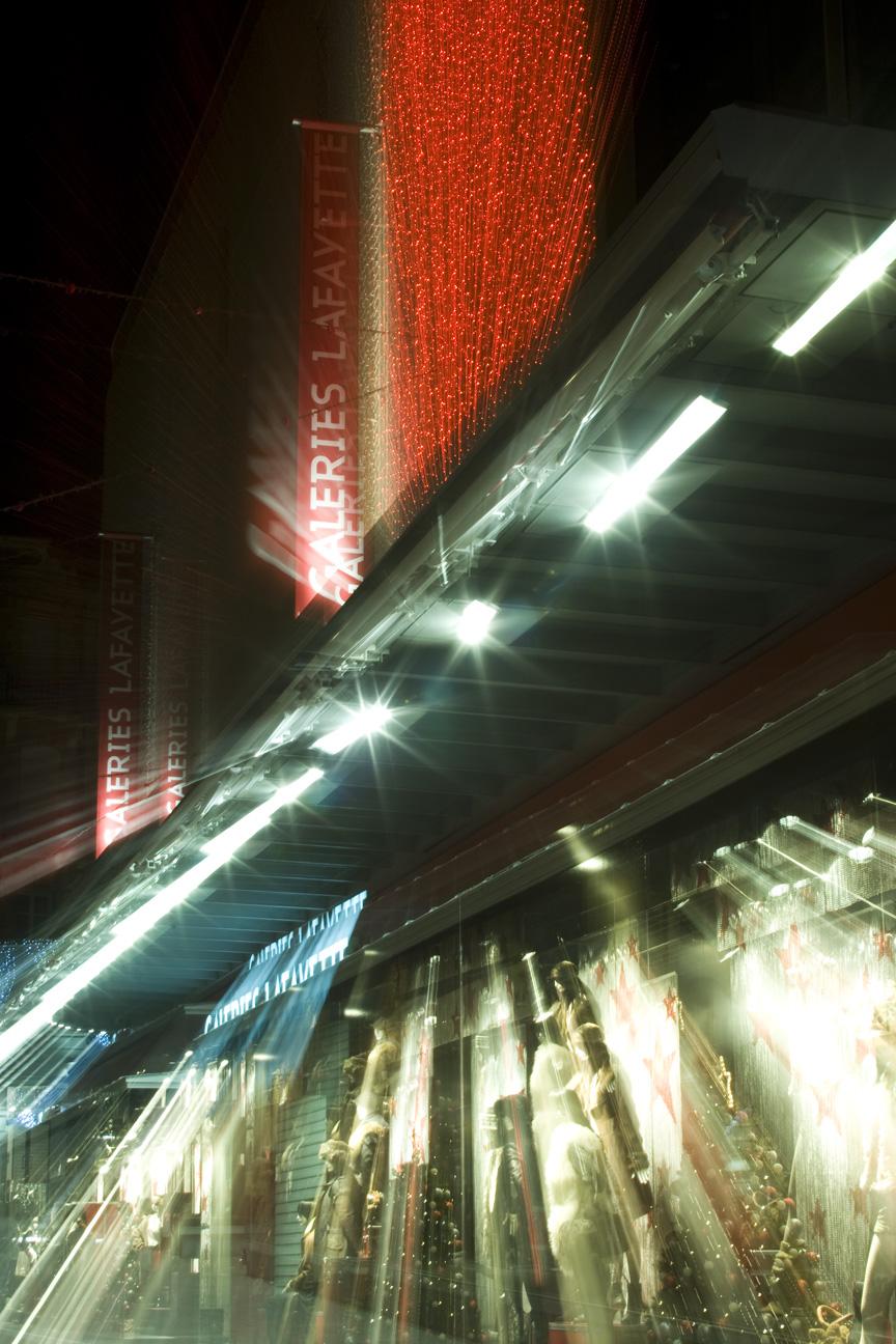 Galeries Lafayette, Toulouse. Effet crée à la Prise de Vue (+ de détails dans mes cours)