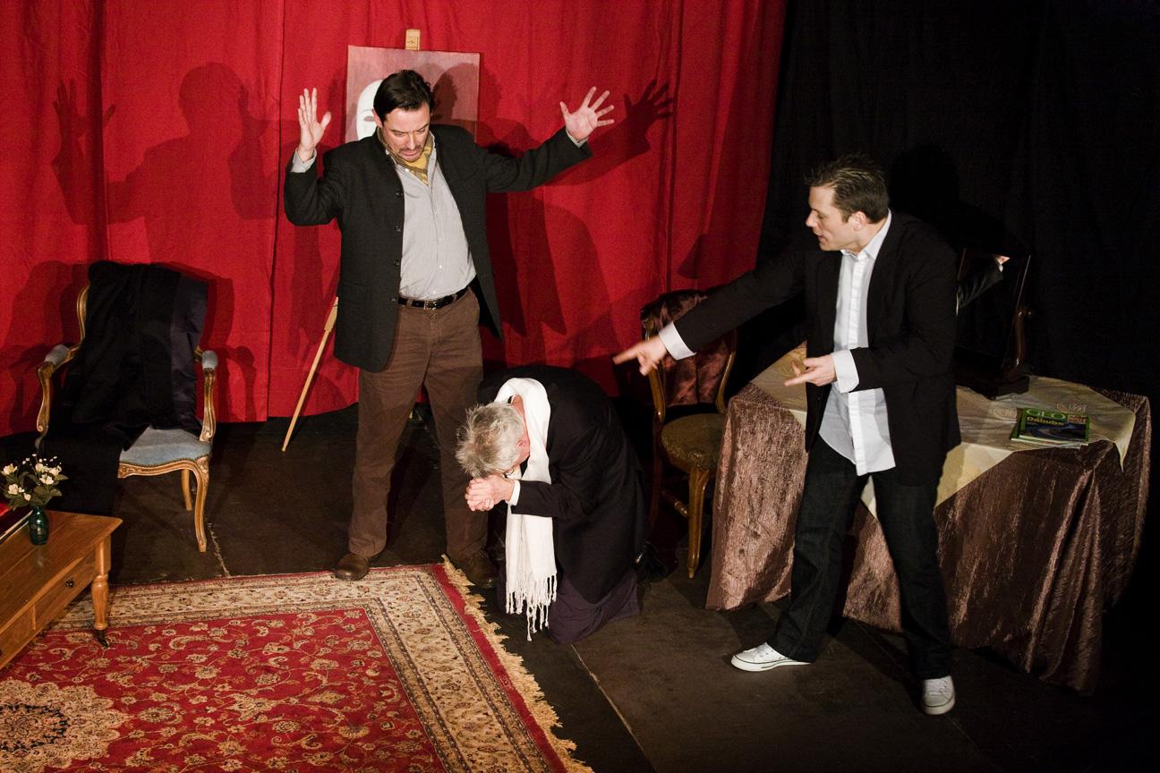 Spectacle «Le Tartufe» ; je suis présent à droite, Adrien B, dans le rôle de «Damis».