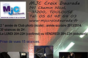 Affiche du club photo Croix Daurade 2013-2014.