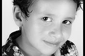 Un des 3 enfants, d'une élève ; pendant un cours MJC Croix Daurade.