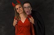Marie-Line et moi, durant Halloween