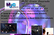 Affiche du club photo, MJC Croix Daurade ; année 2014/2015.